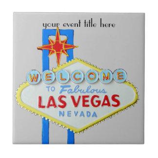 Famous Las Vegas Sign Small Square Tile