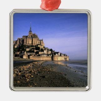 Famous Le Mont St. Michel Island Fortress in Christmas Ornament