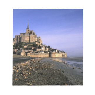 Famous Le Mont St. Michel Island Fortress in Notepad