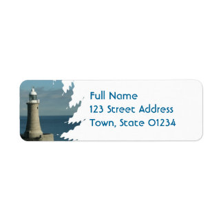 Famous Lighthouse Mailing Label