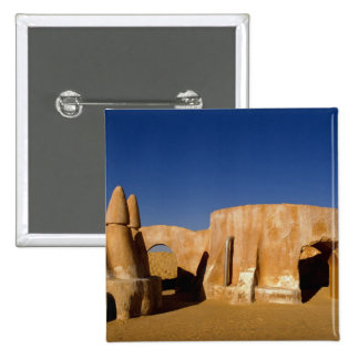 Famous movie set of Star Wars movies in Sahara 15 Cm Square Badge