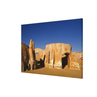 Famous movie set of Star Wars movies in Sahara Stretched Canvas Prints