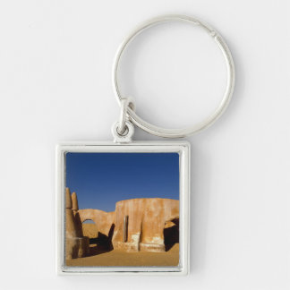 Famous movie set of Star Wars movies in Sahara Silver-Colored Square Key Ring