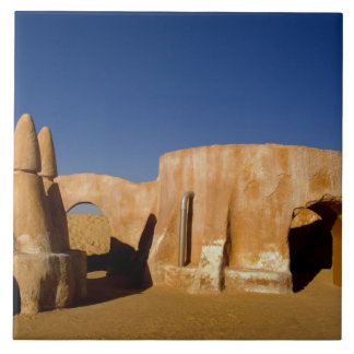 Famous movie set of Star Wars movies in Sahara Large Square Tile