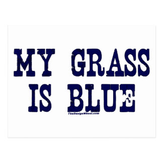 Famous My Grass Is Blue Postcard