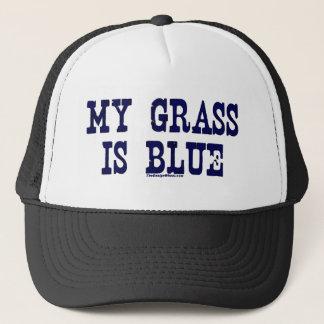 Famous My Grass Is Blue Trucker Hat