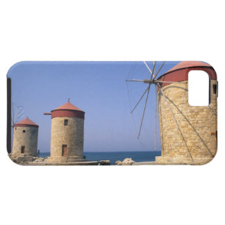 Famous old windmills of Rhodes Greece iPhone 5 Case