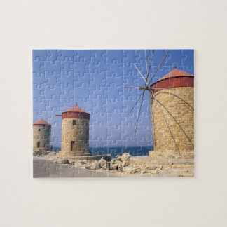Famous old windmills of Rhodes Greece Jigsaw Puzzle