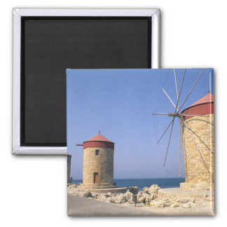 Famous old windmills of Rhodes Greece Magnet