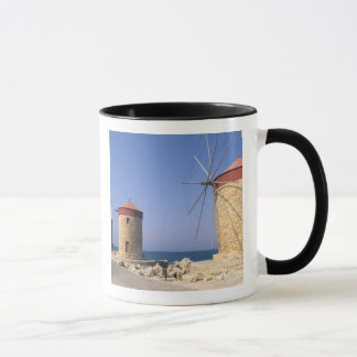 Famous old windmills of Rhodes Greece Mug
