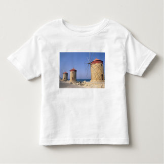 Famous old windmills of Rhodes Greece Toddler T-Shirt