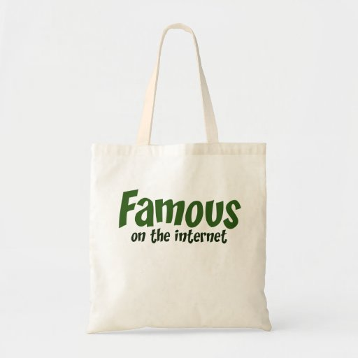 Famous on the Internet Tote Bags