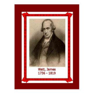 Famous people, James Watt, 1736-1819 Postcard