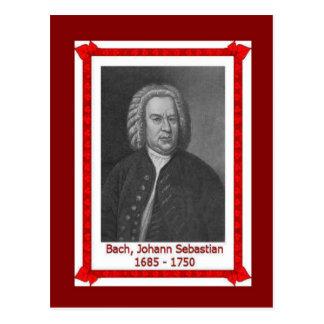 Famous people, Johann Sebastian Bach 1685-1750 Postcard