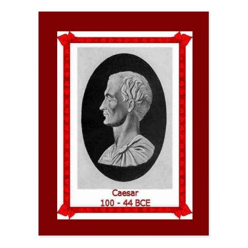 Famous people, Julius Caesar 100 - 44 BCE Post Card