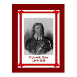 Famous people, Oliver Cromwell Postcard