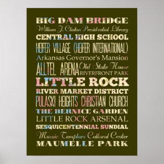 Famous Places of Little Rock, Arkansas. Poster