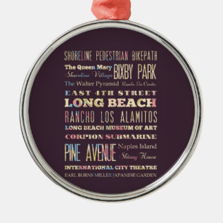 Famous Places of Long Beach, California. Christmas Ornament