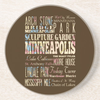 Famous Places of Minneapolis, Minnesota. Coaster