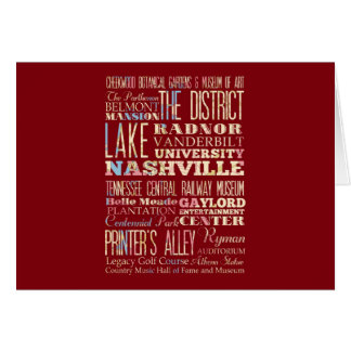 Famous Places of Nashville, Tennessee. Greeting Cards