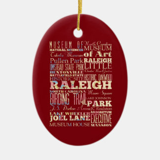Famous Places of Raleigh, North Carolina. Christmas Ornament