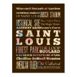 Famous Places of Saint Louis, Missouri. Postcard