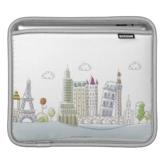 Famous Places of the World iPad Sleeve