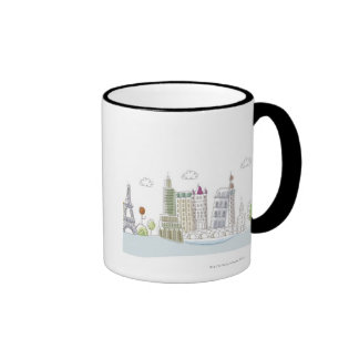 Famous Places of the World Ringer Mug