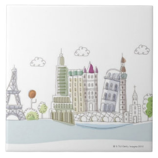 Famous Places of the World Tile
