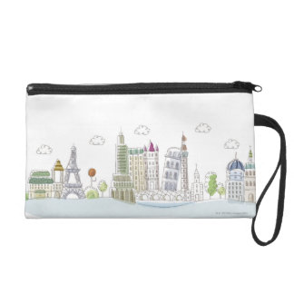 Famous Places of the World Wristlet