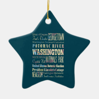 Famous Places of Washington District of Colombia Christmas Tree Ornaments