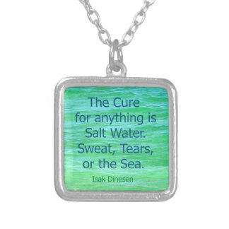 FAMOUS QUOTE CURE SEA SALT PHOTO NECKLACE