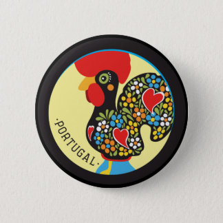Famous Rooster of Barcelos Nr 06 6 Cm Round Badge