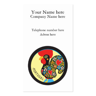 Famous Rooster of Barcelos Nr. 06 Business Card Templates