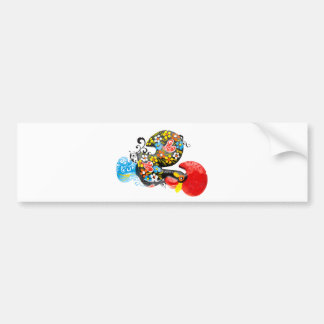 Famous Rooster of Barcelos Nr 06 - Floral edition Bumper Sticker