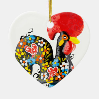 Famous Rooster of Barcelos Nr 06 - Floral edition Christmas Ornament