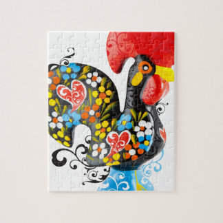Famous Rooster of Barcelos Nr 06 - Floral edition Puzzle