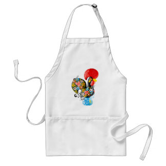 Famous Rooster of Barcelos Nr 06 - Floral edition Standard Apron