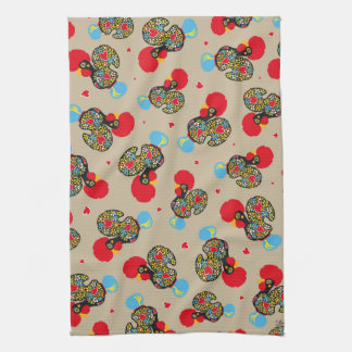 Famous Rooster of Barcelos Nr 06 Pattern Tea Towel