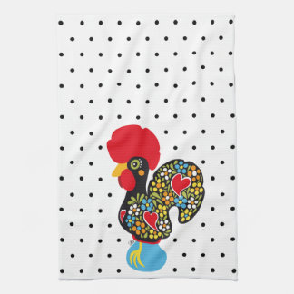Famous Rooster of Barcelos Nr 06 - Polka Dots Tea Towel