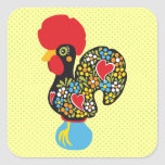 Famous Rooster of Barcelos Nr 06 Square Stickers