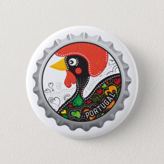 Famous Rooster of Portugal Nr 02 6 Cm Round Badge