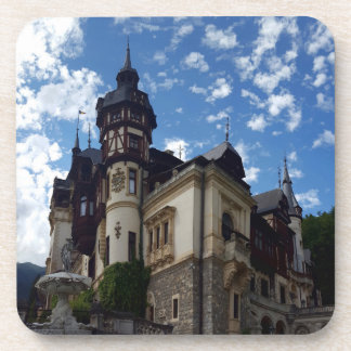 Famous royal castle Peles in Sinaia, Romania. Coaster
