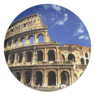 Famous ruins of the Coliseum in Rome Italy Dinner Plates
