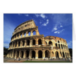 Famous ruins of the Coliseum in Rome Italy Greeting Card