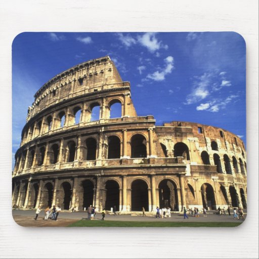 Famous ruins of the Coliseum in Rome Italy Mousepads