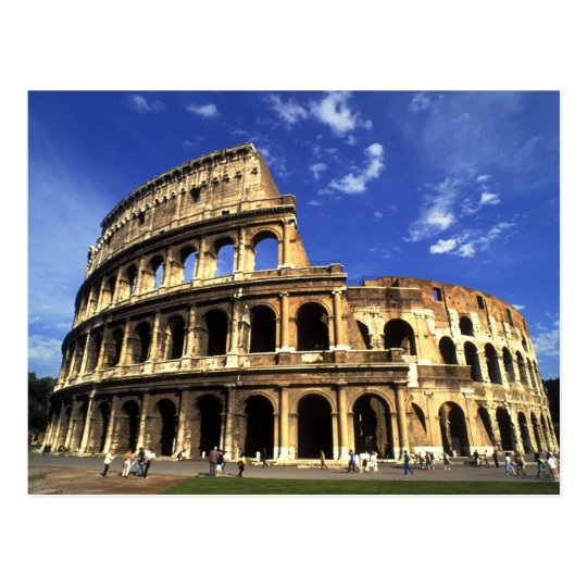 Famous ruins of the Coliseum in Rome Italy
