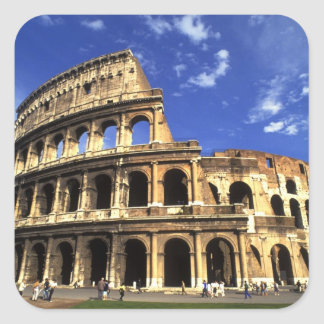 Famous ruins of the Coliseum in Rome Italy Square Sticker