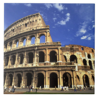 Famous ruins of the Coliseum in Rome Italy Tile