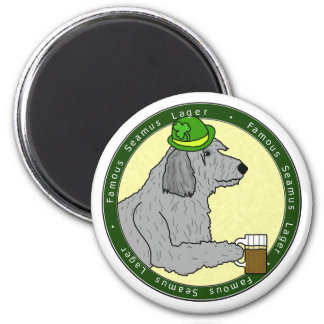 Famous Seamus Lager Irish Wolfhound Magnet
